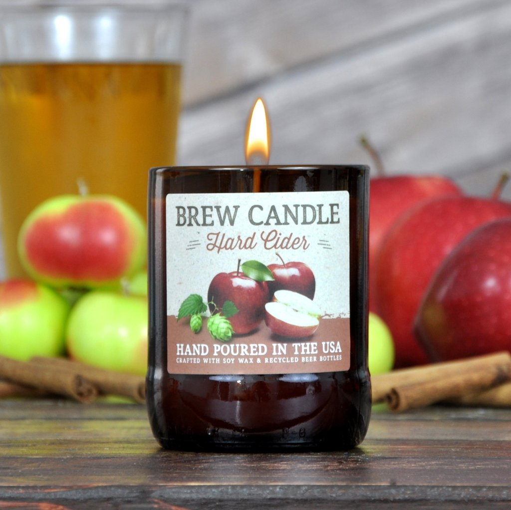 Hard Cider Brew Candle